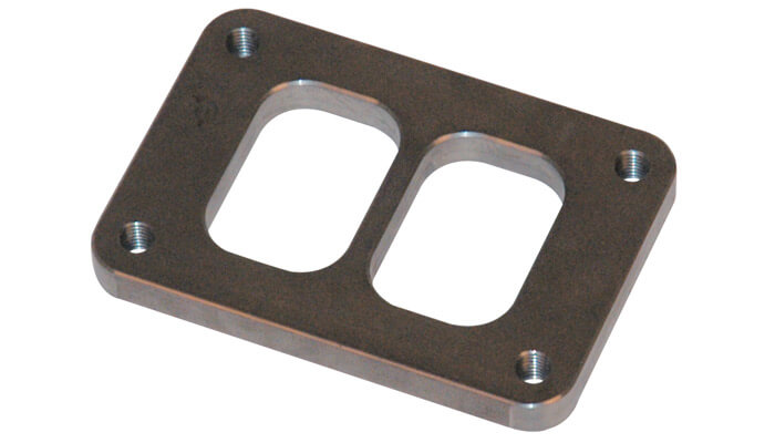 Vibrant Divided T4 Turbo Inlet Flange-SS