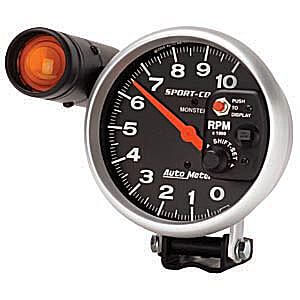 Autometer Sport-Comp10k RPM Tachometer w/ Shiftlight