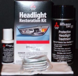 Mitsubishi Headlight Restoration Kit