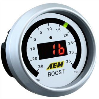 AEM Digital Boost Gauge -30inHg - 35 psi