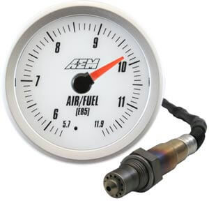 AEM E85 Analog Wideband Gauge-White
