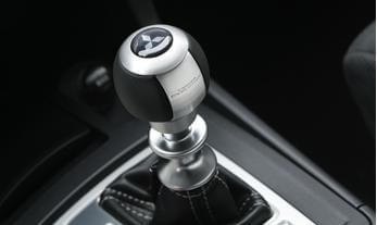 Mitsubishi Accessory Aluminum and Leather Shift Knob-SST EVO X