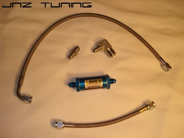 SS Oil Feed Line w/Filter-Oil Filter Housing to GT30R/GT35R