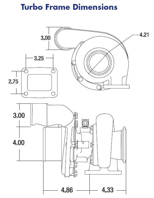 Borg Warner S300SX3-63 .88 A/R (90* Compressor Outlet)