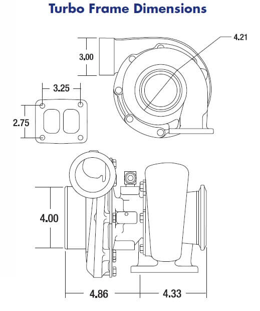 borg warner s300sx3 r  straight compressor outlet