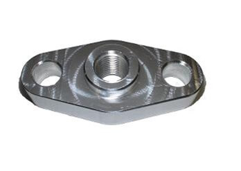 Torque Solution Billet Oil Feed Inlet Flange: T3/T4 Turbo