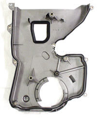 Lower Timing Cover: Silver 6 Bolt