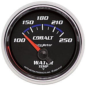 Autometer Cobalt Water Temp Gauge 100-250*F