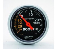 Autometer Sport-Comp Boost Gauge (30 In Hg.-Vac./30 PSI)