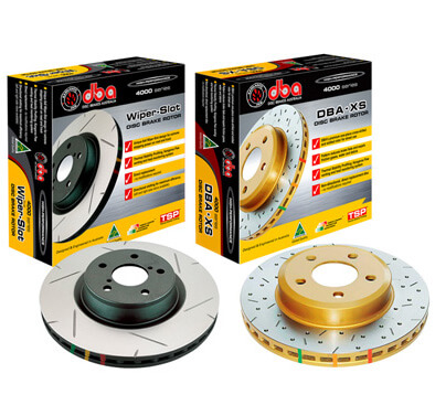 DBA 4000 Series Slotted Front Rotors-EVO 8/9