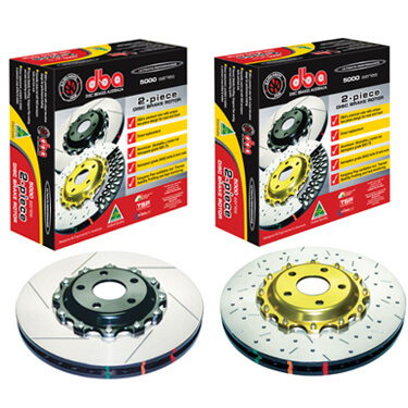 DBA 5000 Series Black Hat Front Rotors-EVO 8/9