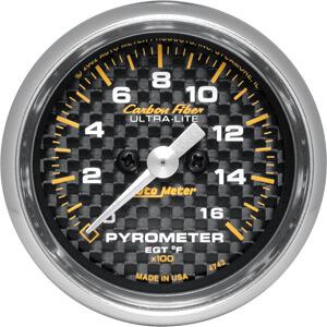 Autometer Carbon Fiber Pyrometer EGT Gauge Kit