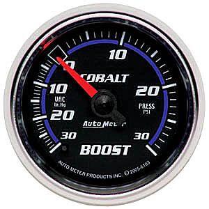 Autometer Cobalt Boost/Vac. 30/30 Gauge