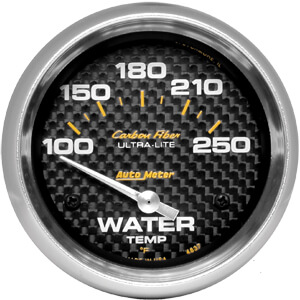 Autometer Carbon Fiber Water Temp Gauge 100-250*F